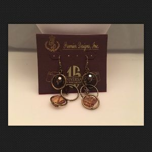 "Premier Designs ""Fireside"" Antiqued Beads Earrings"